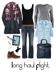 """""""Long Haul Flight outfit"""" by leikodreamer on Polyvore featuring Kuhl, Twenty, Silver Jeans Co., Simplex Apparel, Rails, Dorothy Perkins, M&Co, Burt's Bees, OtterBox and Italia Independent"""