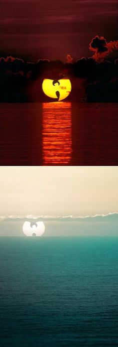 Sunrise and sunset today, so pretty #wu-tang