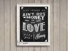 Danny's Song Lyrics by Kenny Loggins Print Art by KayBee Studios. $15.00, via Etsy.