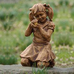 Girl with Firefly Solar Statue | Joss & Main