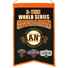 MLB Baseball San Francisco Giants 14x22 Heavy Wool with Embroidery Sport Team Logo 3 Time World Series Champions Banner #2024 -- Awesome products selected by Anna Churchill