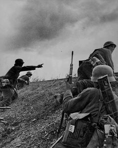 German troops rush to counter a Red Army ambush 15 September 1941