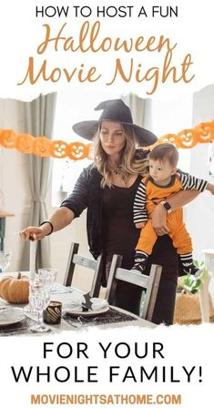Learn how to host a fun and stress-free Halloween Movie Night party with our favorite spooky foods, drinks, decor, music, and invitations!