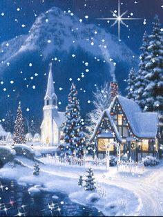 Christmas night gif.