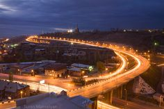 Yerevan city at night by Suren Manvelyan, via Behance