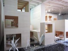 model of 'moriyama house' at the 2010 venice architecture biennale