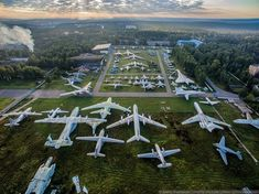 Abandoned planes in a military aircraft graveyard, officially a museum, at Burgas Airport in Bulgaria