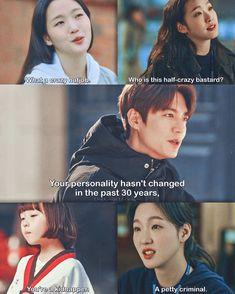 Korean Drama Funny, Drama Fever, Kdrama Memes, Kim Go Eun, King Of My Heart, Funny Tattoos, Kdrama Actors, Crazy Funny Memes, Big Bang Top
