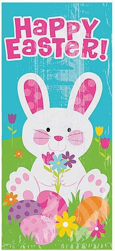 'Happy Easter' Cellophane Treat Bags 60ct Cellophane Treat Bags | Easter Treats | Easter Treat Bag | Cellophane Bags | # ad