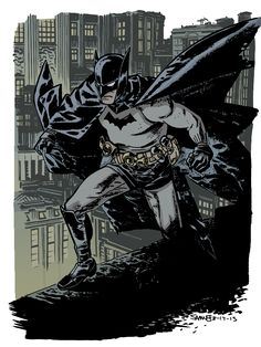 Chris Samnee Batman warm up colours by Pleurgh.deviantart.com on @DeviantArt