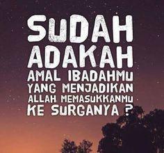 Surga  #Allah #Ibadah #Surga #Neraka Allah, Meme, Calm, Sticker, Quotes, Quotations, Stickers, Decal, Memes