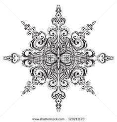 lace snowflake tattoo - Google Search