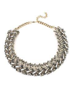 Another great find on #zulily! Eye Candy LA Silvertone Isabelle Bib Necklace by Eye Candy LA #zulilyfinds