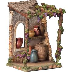 Catholic Gifts and Religious Supplies Store Decorative Gourds, Medieval Houses, Modelos 3d, Catholic Gifts, Fairy Houses, Miniature Dolls, Clay Art, Dollhouse Miniatures, Portal