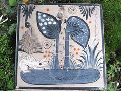 Early Tonala Mexico Hand Painted Pottery Tile