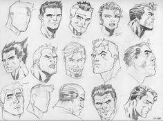 Sketchbook of Gary Lyles Jr.: First 100 Heads Jim lee Style (Men)