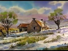Line and Wash Watercolor Barn Demonstration. Redone in Real-time. Peter Sheeler - YouTube
