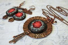 """Maevsky Handmade Things Комплект украшений """"Сияние Миры"""". Специально для международной выставки """"Фарбы душы"""""""