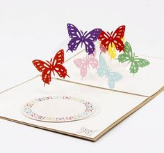 Pop Up ButterFly Greeting Card