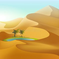 Illustration about Oasis in the desert dunes. Illustration of palm, background, orange - 71561887 Illustration Art Drawing, Landscape Illustration, Art Drawings, Desert Oasis, Desert Art, Background Clipart, Cartoon Background, Cute Patterns Wallpaper, Print Wallpaper