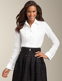 Talbots - Wrinkle-Resistant Tuxedo Shirt | Tops | Misses
