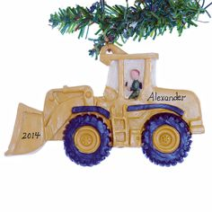 Front loader personalized Christmas ornament by Christmaskeeper