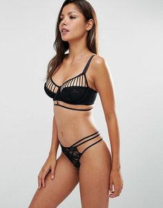 Wolf & Whistle Strappy Lace Lingerie Set