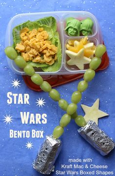Want an out of this world meal that shares your childhood memories with your own kids?  Try our fun Star Wars themed Bento Box made with Kraft Mac & Cheese Star Wars Boxed Shapes! #YouKnowYouLoveIt #ad