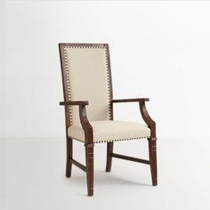 Wood Dekor Osborne Chair With Hand Rest Brown And Beige - Well-Designed Exquisitely designed chair in perfect brown and beige combination by Solide for a refined addition in your living room furniture. Make up for this comfortable and unique chair and catch your guests' eye with this awesome pick. Made with strengthThis chair is made up with refined and quality solid wood for its durable construction. Its elegant designing is done by the expert craftsmen.