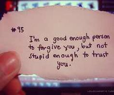 trust  #quote When I let you in I thought it would be forever but you proved me wrong...