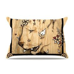KESS InHouse Panther by Jennie Penny Featherweight Pillow Sham Size: King, Fabric: Woven Polyester