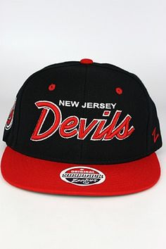 Zephyr Headliner 2 Tone New Jersey Devils Snapback Hat Black - Red - White  New Jersey 9537a619a7df