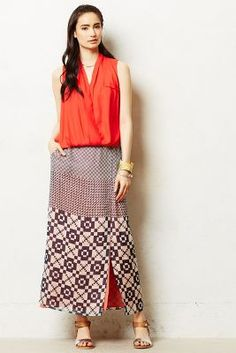 Geo-Swatch Maxi Skirt