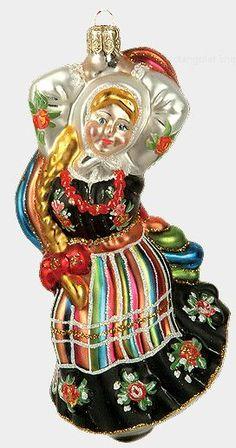 polish glass christmas ornaments | Polish Dancing Girl Polish Glass Christmas Ornament