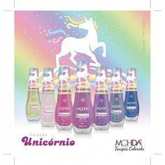 Aqui estão as 7 cores da coleção Unicórnios da @esmaltemohda. A coleção é limitada, e pode ser usada sozinha ou em cima da cor que você preferir. Faça a mágica acontecer! ✨ Quem já quer?!?  No site da @mariapomposa já esta sendo feita a pré venda com a coleção completa! . . #terapiacolorida #lancamento #novidade #esmalte #mohda #esmaltemohda #unicornio #nuvem #arcoiris #ceucolorido #magico #encantada #fantasia #unhas #manicure