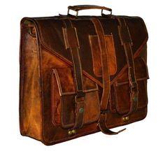 ed22bea06d Real Vintage Goat leather bag office unisex bag laptop messenger bag   fashion  clothing