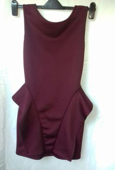 4c18f8e3fd5a Cool Amazing GORGEOUS MAROON BODYCON BACKLESS DRESS. .SIZE 10..BOOHOO 2017  2018