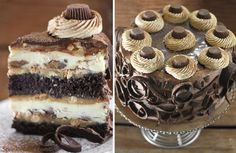 peanut butter cup chocolate cake cheesecake この地層の厚さ・・・違う 甘さのハーモニー?ww