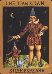 Example card from the Shakespeare Oracle deck. DISCOVER MORE: http://www.tarotacademy.org/the-shakespeare-oracle-let-the-bard-predict-your-future/