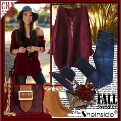 How To Wear Red Knit Sweater Outfit Idea 2017 - Fashion Trends Ready To Wear For Plus Size, Curvy Women Over 20, 30, 40, 50