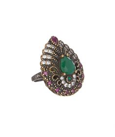 Another great find on #zulily! Emerald & Ruby Teardrop Ring #zulilyfinds