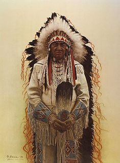 Shoshone Chief - artist James Bama