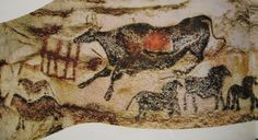 Lascaux Artwork 2 from France Lascaux Cave Paintings, Old Paintings, Paleolithic Art, Cave Drawings, Art Ancien, Art Village, Illustrations And Posters, Ancient Art, Stonehenge