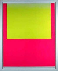 Geiger_Rupprecht_WVG_92_1.jpg (22093 Byte) gelbes Feld auf rot/leuchtgelb auf leuchtrot kalt 1967
