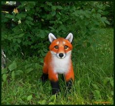 Red fox Felted sculpture By Irina Kotelnikova - Bear Pile