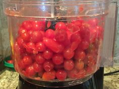 Easy No Peel Salsa For Canning – Blonde Bitchin' West Texas Kitchen Canning Homemade Salsa, Canning Tomato Juice, Canning Cherry Tomatoes, Cherry Tomato Salsa, Salsa Canning Recipes, Tomato Salsa Recipe, Cherry Tomato Recipes, Canning Salsa, Canned Cherries