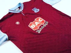 We couldn't resist one more #westham shirt for #MNF.  Classic 1989-1991 shirt.  For sale (plus thousands more at www.classicfootballjerseys.com  #classicfootball #classicfootballshirts #classicfootballjerseys #vintagefootballshirt #vintagefootballshirts #oldfootballshirt #oldfootballshirts #retrofootball #retrofootballshirts Old Football Shirts, Classic Football Shirts, Soccer Shirts, Football Jerseys, Polo Ralph Lauren, Mens Tops, Fashion, Football T Shirts, Football Shirts