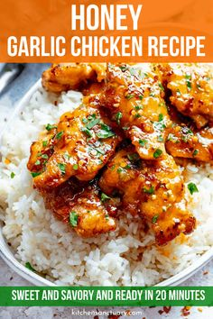 Sticky tender boneless chicken thighs in a garlic, soy and honey sauce. Minimal ingredients, simple to prepare and ready in 20 minutes! Garlic Chicken Recipes, Meat Recipes, Asian Recipes, Cooking Recipes, Healthy Recipes, Recipe Chicken, Honey Garlic Chicken Thighs, Simple Honey Chicken Recipe, Simple Chicken Dishes