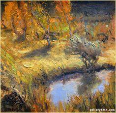 """Gordon Brown   """"Fall Colors""""   Oil, 12x12"""" Landscape Paintings, Landscapes, Gordon Brown, Contemporary Landscape, Oil, Colors, Artist, Kunst, Paisajes"""
