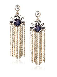 54% OFF Leslie Danzis Sunrise Crystal Fringe Earrings